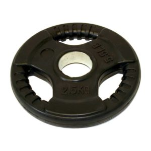 Tri grip Rubber Coated Weight Plate Olympic 2.5kg