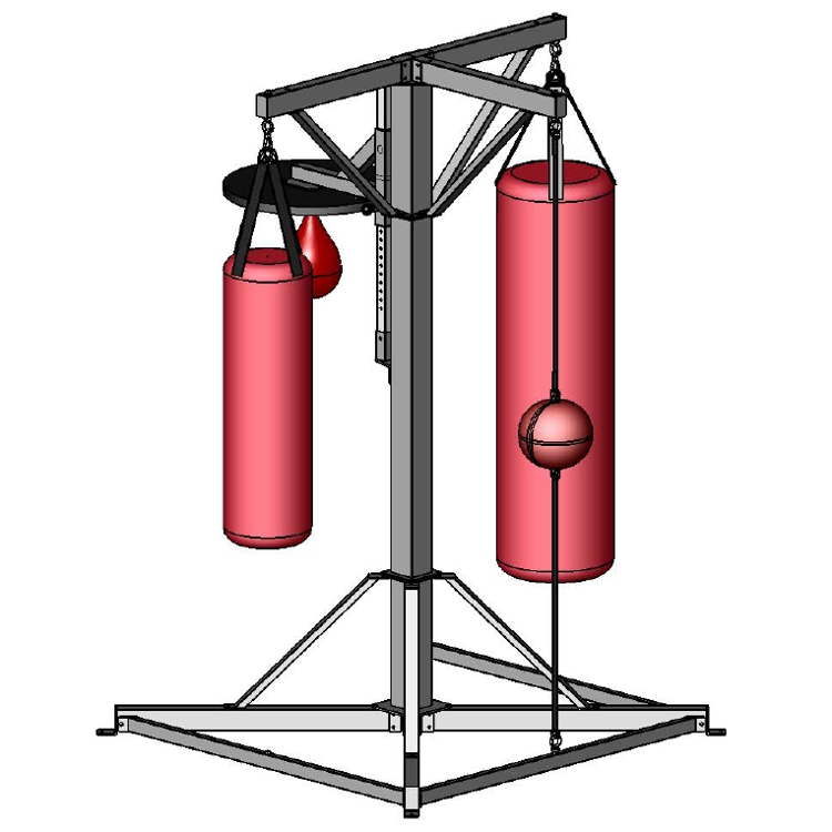 Gym Equipment Suppliers In Zimbabwe: INVINCIBLE BOXING STATION 4 STATION EXCL BAGS