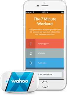7 Minute Workout App with the Wahoo TICKRx